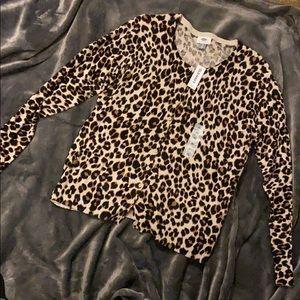 NWT Leopard Cardigan